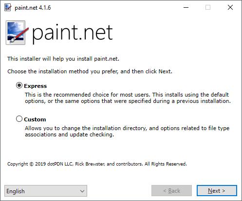 Install paint net