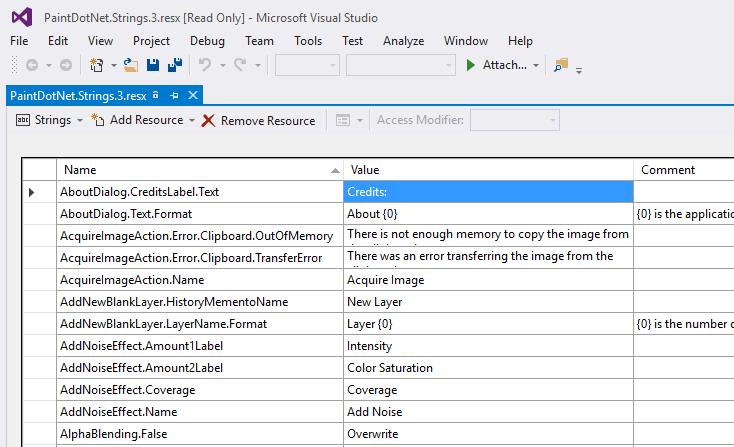 PaintDotNet.Strings.3.resx in Visual Studio